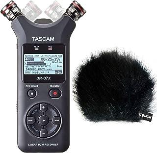 Tascam DR-07X - Grabador de audio estéreo con función de interfaz y protección contra el viento de piel Keepdrum