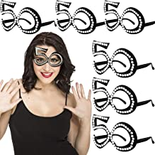 50th Birthday Decorations - 50th Birthday Glasses - Number Crystal Frame, Party Favors, Funny Costume Sunglasses, Novelty ...