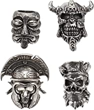 4 pcs Metal Crânio forma contas de jóias fazendo pingentes para colares braceletes