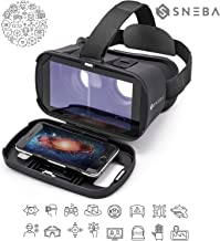 """[Model 2019] Virtual Reality Headset, VR Glasses, 3D IMAX Movie/Game Viewer Compatible iPhone Xs XR X 8 7 6 S Plus Samsung Galaxy S9 S8 S7 S6 Edge + etc 4.0-6.33"""" Cellphone"""