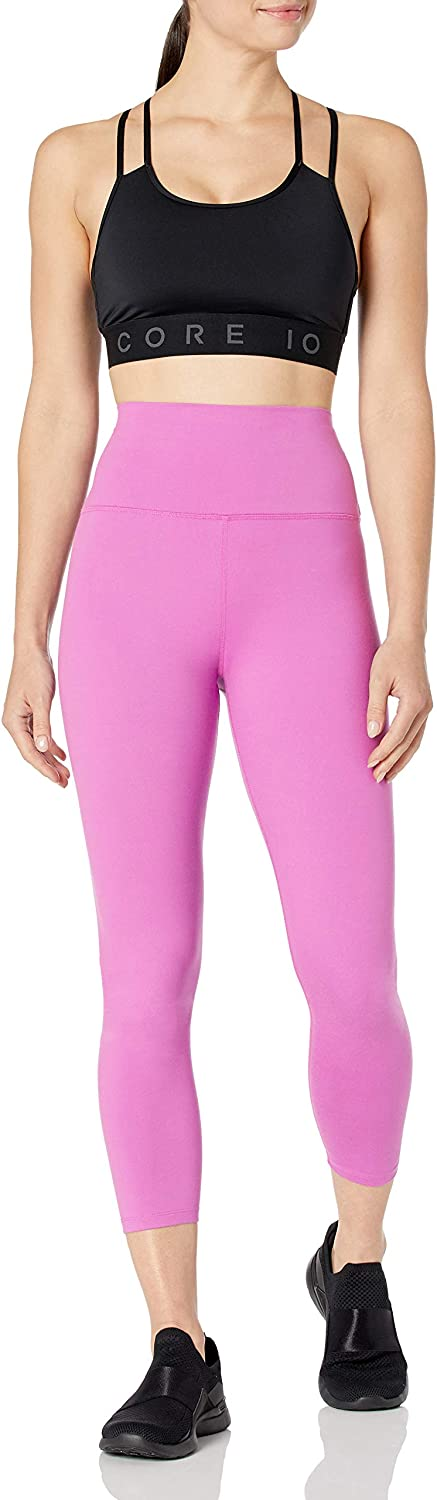 Core 10 Women's All Day Comfort High Wasit 7/8 Crop Yoga Legging-24: Clothing
