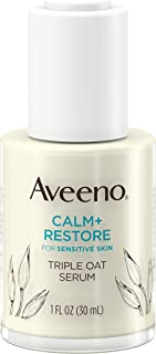 Aveeno Calm + Restore Triple Oat Hydrating Face Serum for Sensitive Skin, Gentle and Lightweight Facial Ser...