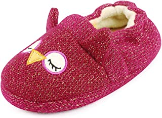Image of Sleepy Owl Slippers for Toddler Girls - Also Available in Gray