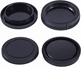 2 Pack - Movo Lens Mount Cap and Body Cap for Sony NEX E Mirrorless Camera (4 Caps)