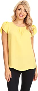 womens yellow blouse
