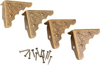 Dophee 16Pcs Antique Brass Jewelry Box Corner Case Chest Corner Protector Guard Edge Cover