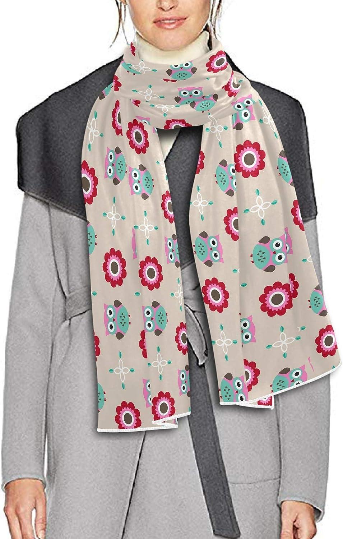 Scarf for Women and Men Owl Flower Shawls Blanket Scarf wraps Warm soft Winter Long Scarves Lightweight