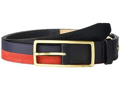 rag & bone Rebound Belt (Navy/Red) Women