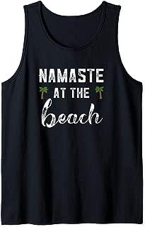 Namaste At The Beach Shirt Summer Vacation Sayings Yoga Gift Tank Top
