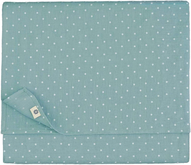 Linen & & & Cotton Luxus Vintage Landhaus Tischdecke Punkte Weiß Weiss ANTEA - 100% Leinen (137 x 250 cm, Enteei Blau) B01LJWVFO2 281838