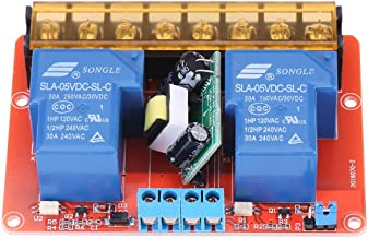Relay Module High Power 2-Channel Relay DC5V High-Low Level Trigger Switch Module for Controlling DC Motors AC100V-250V 30A Solenoid Valves