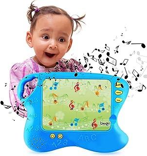 Boxiki kids Pad de Aprendizaje en Inglés con 10 Cartas educativas Tablero Infantil con Funciones Toca y aprende | Set de Aprendizaje Electrónico Educativo