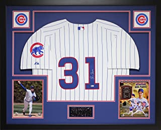 Greg Maddux Autographed White Cubs Jersey - Beautifully Matted and Framed - Hand Signed By Greg Maddux and Certified Authentic by Auto MLB COA - Includes Certificate of Authenticity