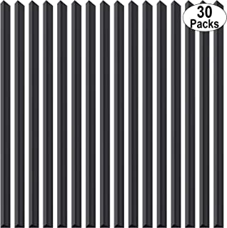 30 Pieces Binding Bars Slide Grip Binding Bars for Office School Report Cover, A4 Size, 40 Sheets Capacity, 12 Inch (Black)