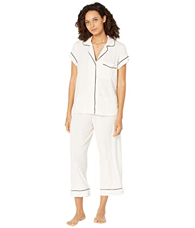 Eberjey Gisele The Cropped Pajama Set (Sorbet/Black) Women