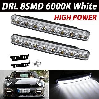 Heinmo New 2/pz auto diurne a LED luce di segnalazione luce scorre giallo Steady auto striscia flessibile styling Crystal LED bar DRL  bianco ambra