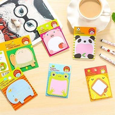 Sticky Notes, Self-Stick Removable Shaped Sticky Notes - 14 Pads - 100 Sheets 6 Pad Shaped Notes -20 Sheets 8 Pad Animal Note