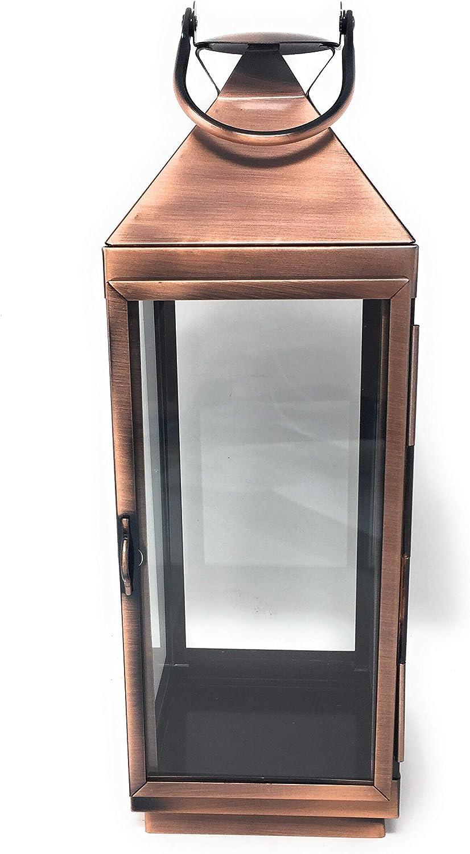 Financial sales sale Serene Spaces Max 73% OFF Living Decorative Copper Squa Steel Glass Finish