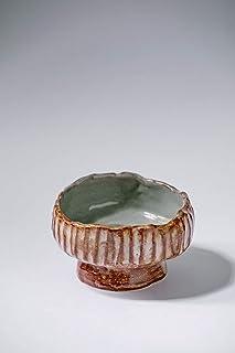 Cuenco de cerámica vintage rústico hecho a mano para plato de aperitivos Decoración del hogar esmalte marrón gris texturizado