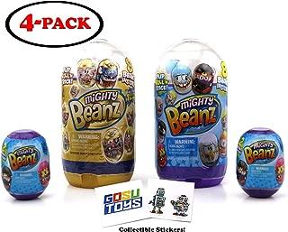 Golden Mighty Beanz Ultimate Slam Pack Bundle - 1 Gold Slam Pack, 1 Slam Pack, 2 Pod Capsule, 2 GosuToys Stickers Gift Set