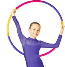 NEOWEEK Hoola Hoop for Kids, Detachable Adjustable Size Kids Hoola Hoop, Suitable for Girls, Boys and Pet Training