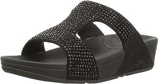 FitFlop Women's Rokkit Crystal Slide Sandal
