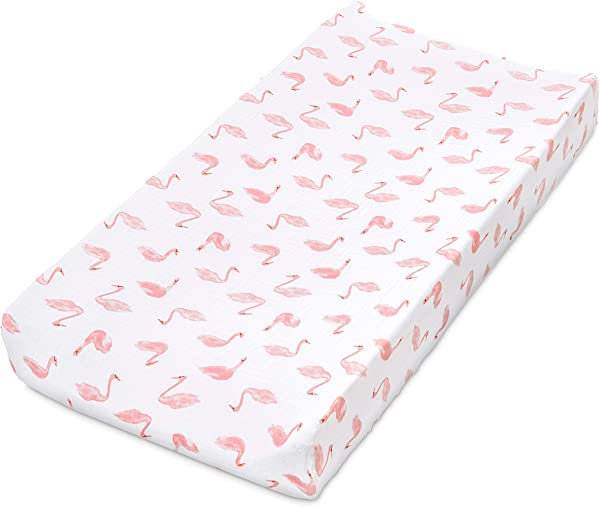 Aden By Aden Anais Classic Changing Pad Cover 100 Cotton Muslin Super Soft Breathable Tailored Snug Fit Single Briar Rose Swans