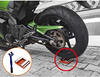 Motorcycle Wheel Cleaning Stand - Wheel Roller Stand for tire Cleaning & Chain Lubrication - GRoller with Chain Cleaning Brush (Medium (Bikes < 485lb Dry wt & Tyre Width <180 mm))