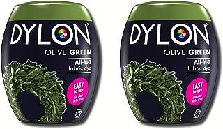Dylon DylonPodOliveGreen2Pack Lot de 2 sachets de Teinture pour Machine Vert Olive 350 g, 700g