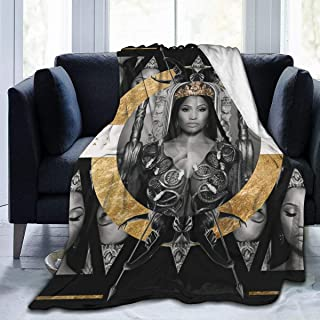 ABSFORTY Ni-cki Mi-naj Soft Queen Size Summer Blanket All Season Warm Microplush Lightweight Thermal Fleece Blankets for C...