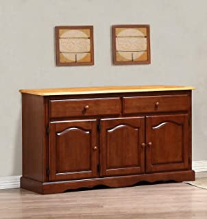 Sunset Trading Oak Selections Buffet Only, Medium Walnut with Light Finish top