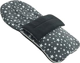 Saco polar compatible con sillas de paseo Formula Baby multiposiciones, con diseño de estrellas, color gris