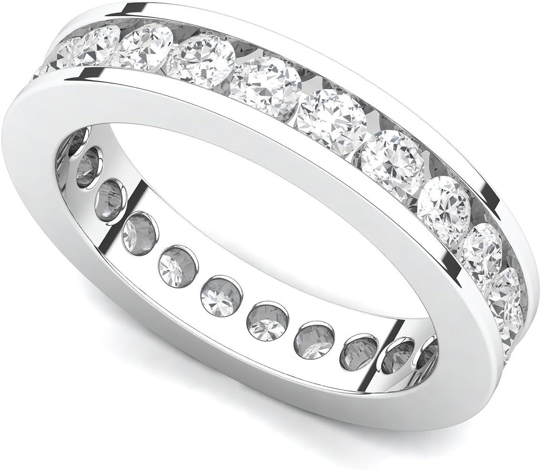Platinum Channel set Diamond Eternity Band 2 VS Ring 1 Dealing full Portland Mall price reduction G-H c