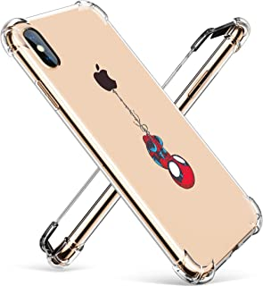 "Logee TPU Spider Funny Cute Cartoon Clear Case for iPhone Xs Max 6.5"",Fun Kawaii Animal Soft Protective Shockproof Cover,Ultra-Thin Character Creative Unique Cases for Kids Teens Girls Boys(XSMax)"