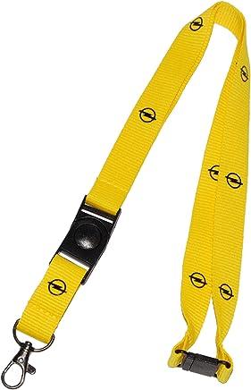 Halsband HANF Keyholder Landyard Hanfblatt auf gr/ün gelb rot gestreift Schl/üsselband Strap