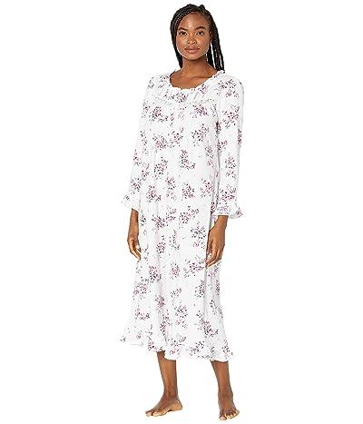 Eileen West Cotton Jersey Knit Long Nightgown (Multi Floral) Women