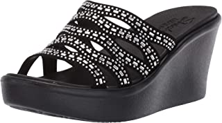 Women's Rumble Up-Funny Business-High Wedge Rhinestone Sandal