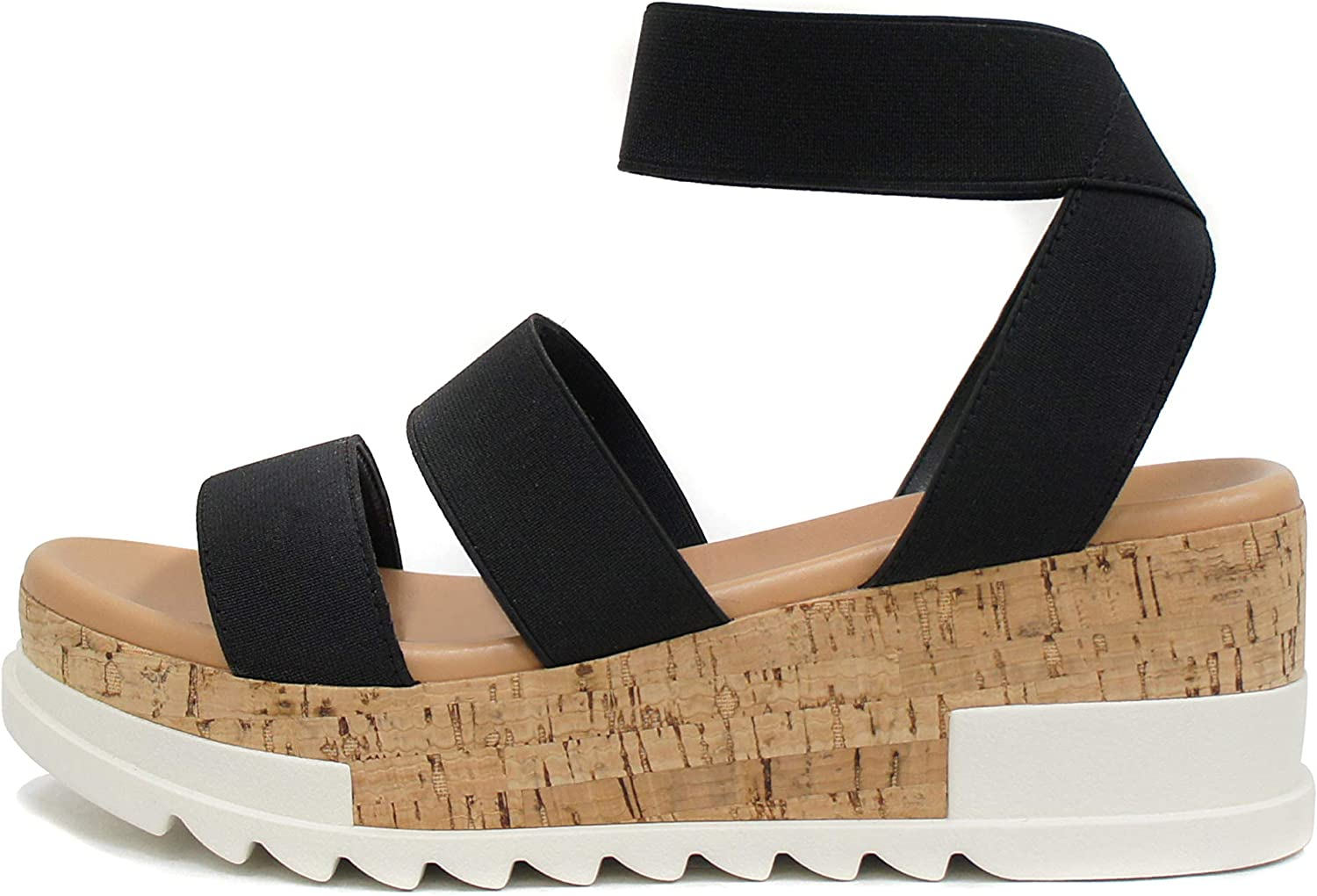 Soda Spring new work Style Madyson ~ All stores are sold Slip On Open Two Elastic St Ankle Bands Toe