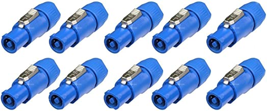 10 Neutrik Power in Blue NAC3FCA Series PowerCon Locking AC Connector Cable Plug
