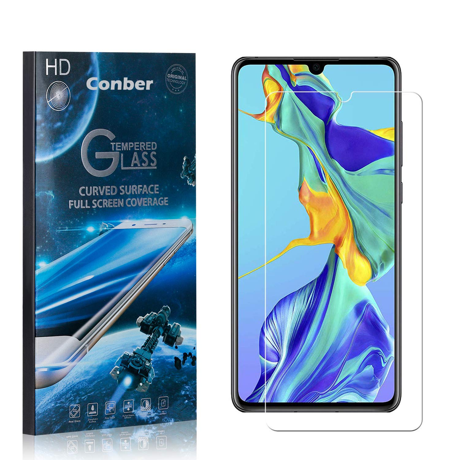 Conber 1 Pack Screen Protector Limited price Scratch-Resist for Huawei New York Mall P30