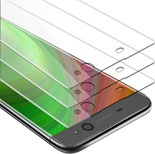 Cadorabo 3X Película Protectora para Sony Xperia XA en Transparencia ELEVADA - Paquete de 3 Vidrio Templado (Tempered) Cristal Antibalas Compatible 3D con Dureza 9H