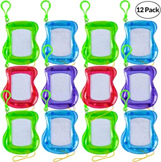 Mini Magnetic Drawing Board for Kids - (Pack of 12) Backpack Keychain Clip Drawing Boards, Erasable Doodle Sketch and Writing Pad for Boys and Girls, Birthday Party Favor and Goodie Bag Filler