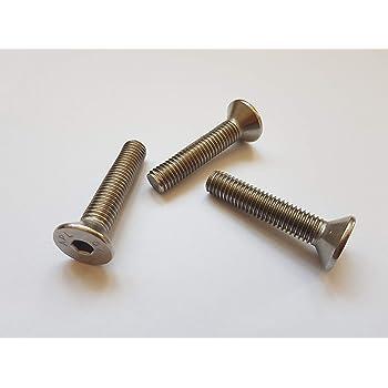 Gewindeschrauben Edelstahl A2 V2A M5 x 45 mm Senkkopfschrauben mit Innensechskant rostfrei - DIN 7991 Vollgewinde 10 St/ück ISO 10642 Senkkopf Schrauben Eisenwaren2000