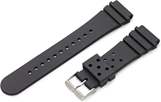 Hadley-Roma Men's MS3260RA 200 20-mm Genuine Polyurethane Diver Sport Watch Strap