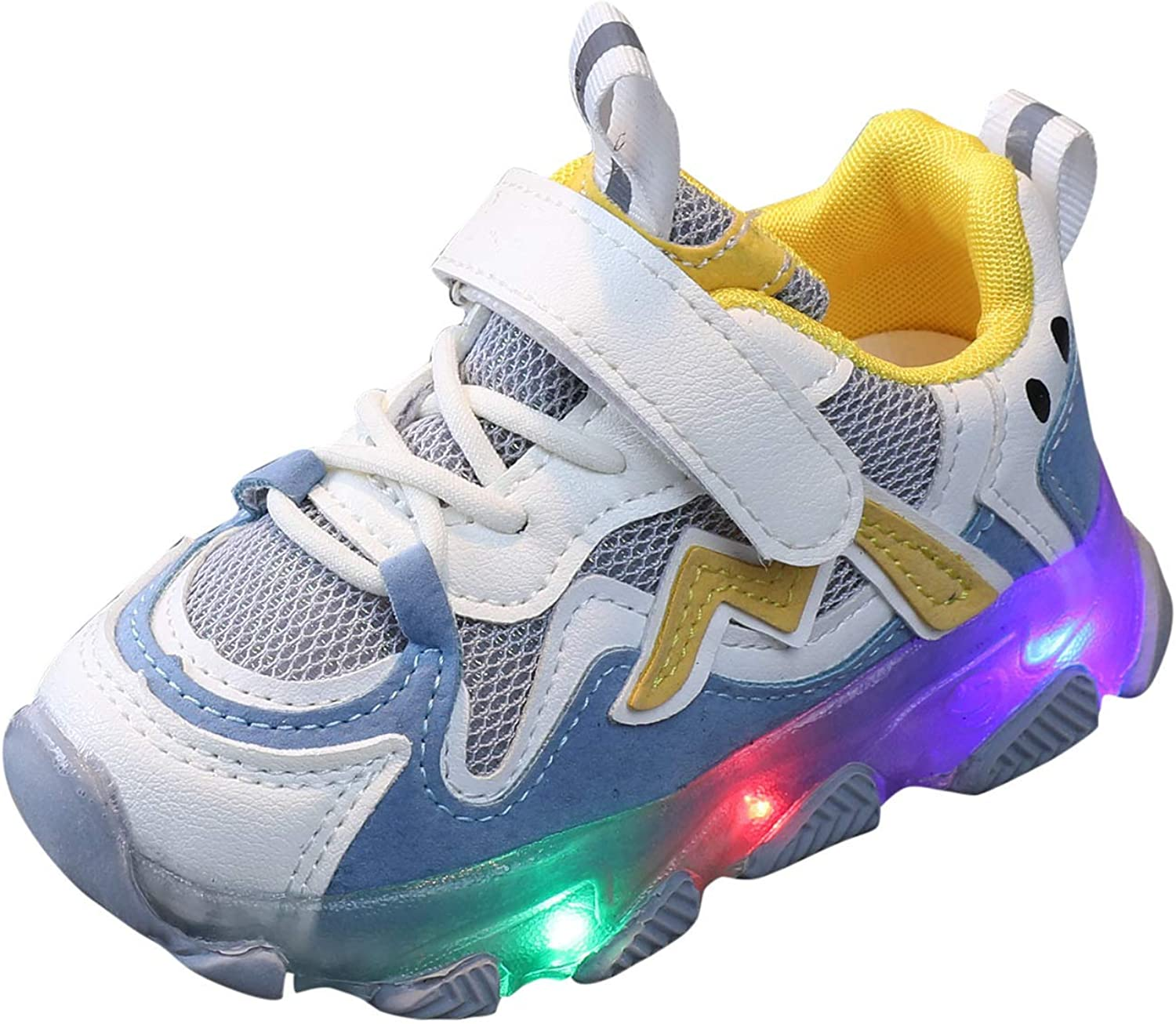 Phoenix Mall Jchen Boys Girls Mesh Breathable LED Light Up Free shipping on posting reviews Shoes Hook Kids