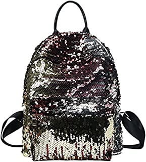 Zoopwon Magic Sequin Backpack,Fashion Bling Sequins Bags for Girls Women