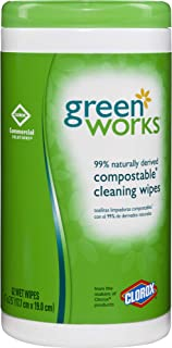 Green Works Compostable Cleaning Wipes, 62 Count (30380)