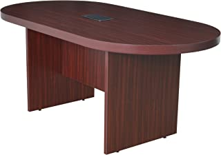 Regency LCTRT7135-MH and and Power Data Grommet Legacy Racetrack Conference Table, 71