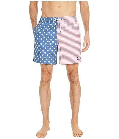Vineyard Vines Printed Chappy Trunks (American Flag) Men