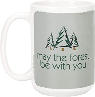 May The Forest Be With You Stonewashed Green 15 Ounce Ceramic Mug